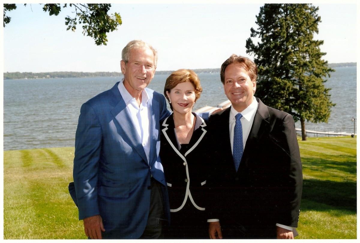 patrick and president george w bush and laura bush