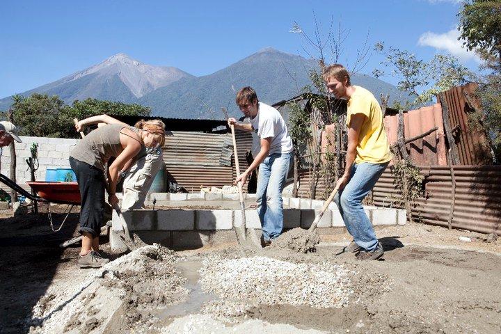 spreading gravel