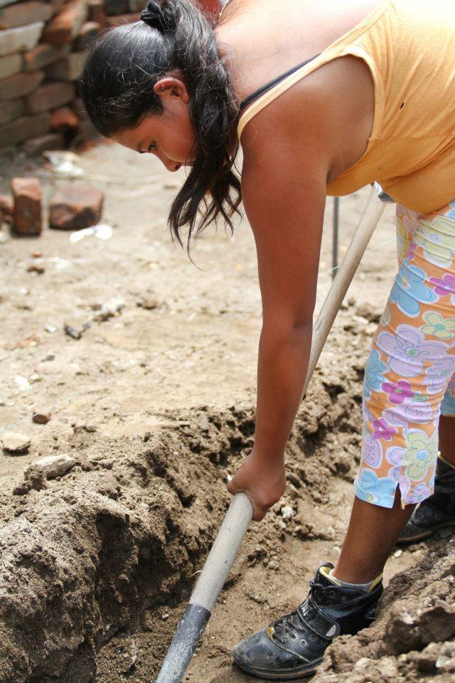 volunteer digging